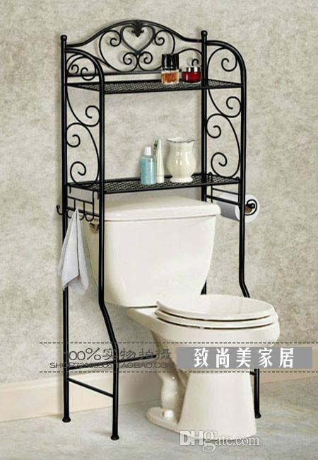 The New Wrought Iron Shelf European Style Bathroom Toilet Toilet