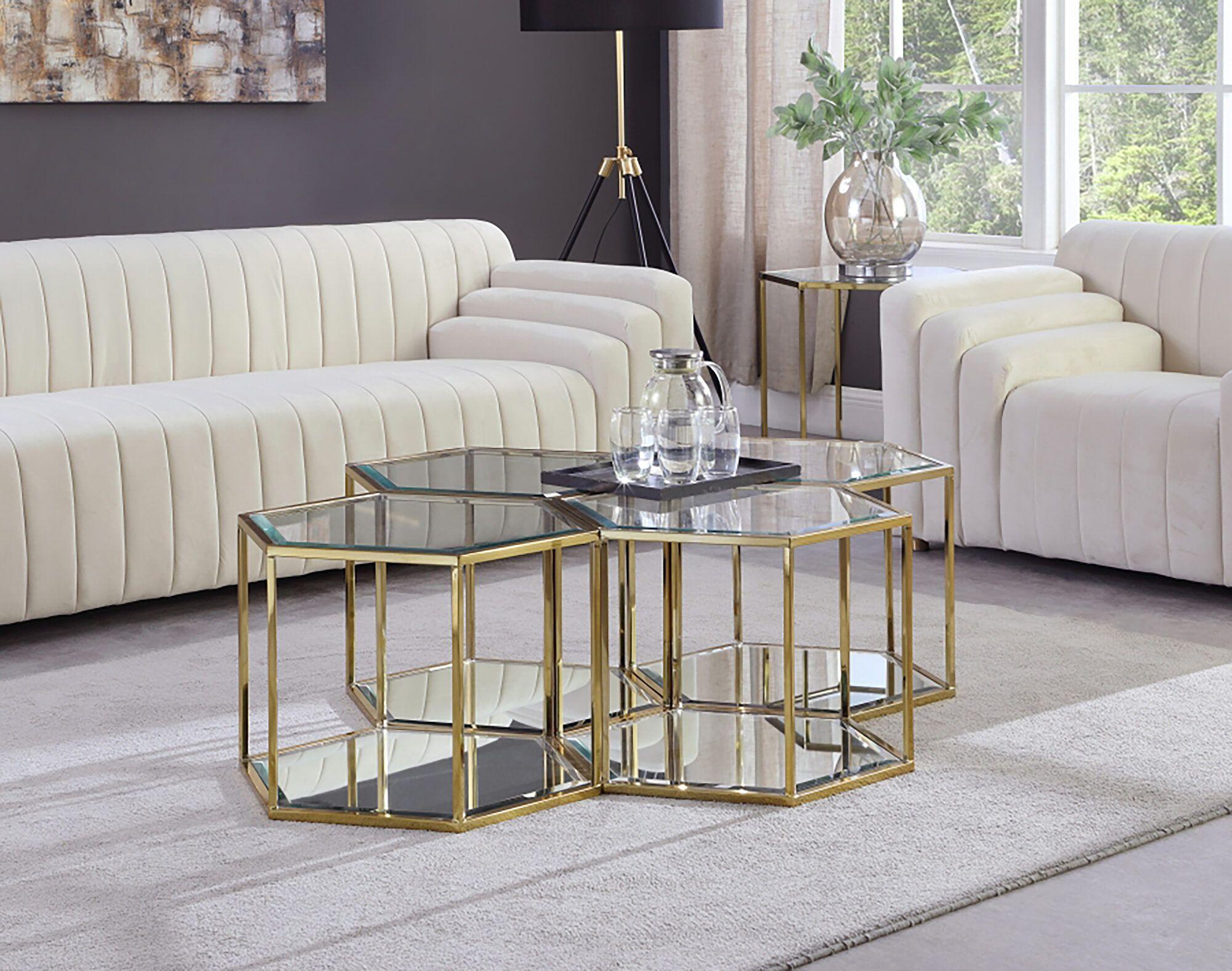 Sei 4 Gold Coffee Table 205 Ct 4pc Meridian Furniture Coffee Tables In 2021 Modular Coffee Table Coffee Table Gold Coffee Table [ 1577 x 2000 Pixel ]