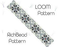 Beads bracelet pattern Monochrome jewelry White black