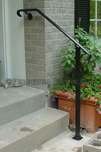 Best Wrought Iron Handrail Only For Porch Core Drilled In Cement 400 x 300