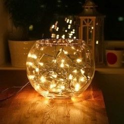 Fish Bowl Fairy Lights Great Little Centre Piece Idea Wrap The Battery Pack In Tin Foil To Cover Could Also Add Decretive Marbles Or Use A Lay S Flowers