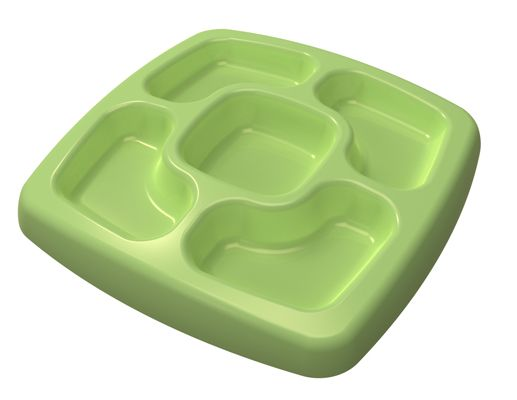 This plate is made out of potatoes -- yes, potatoes. All of Spud's products are made of the company's patented bio-plastic, called Spudmer, which is made from a vegetable-based biodegradable solution. www.thebump.com #EcoFriendly #cleaning #green #parenting