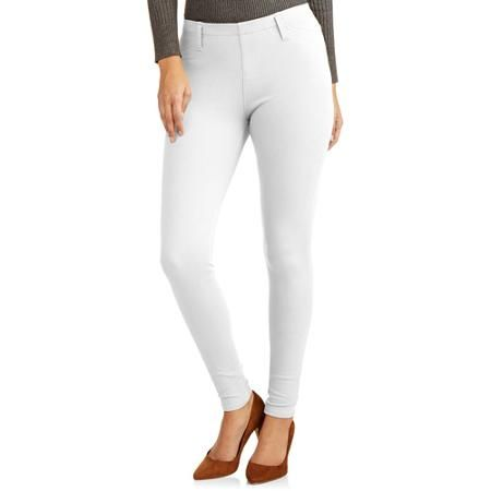 304dcc240829c Faded Glory Women's Full Length Knit Color Jegging - Walmart.com Arctic  White