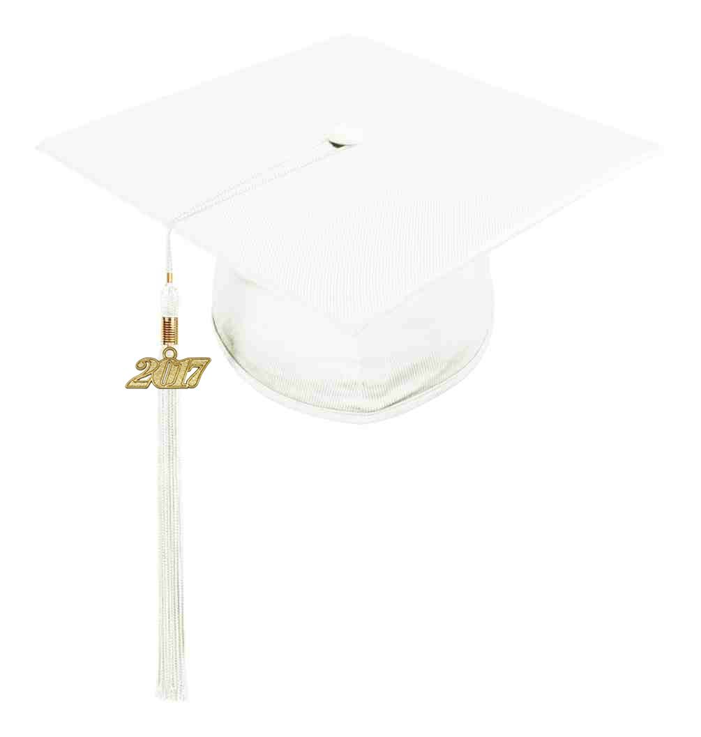 White Child Cap Tassel The White Graduation Cap Is Made From High Quality Shiny Tricot Fabric The Grad Cap Child Graduation Cap Graduation Cap Children Cap