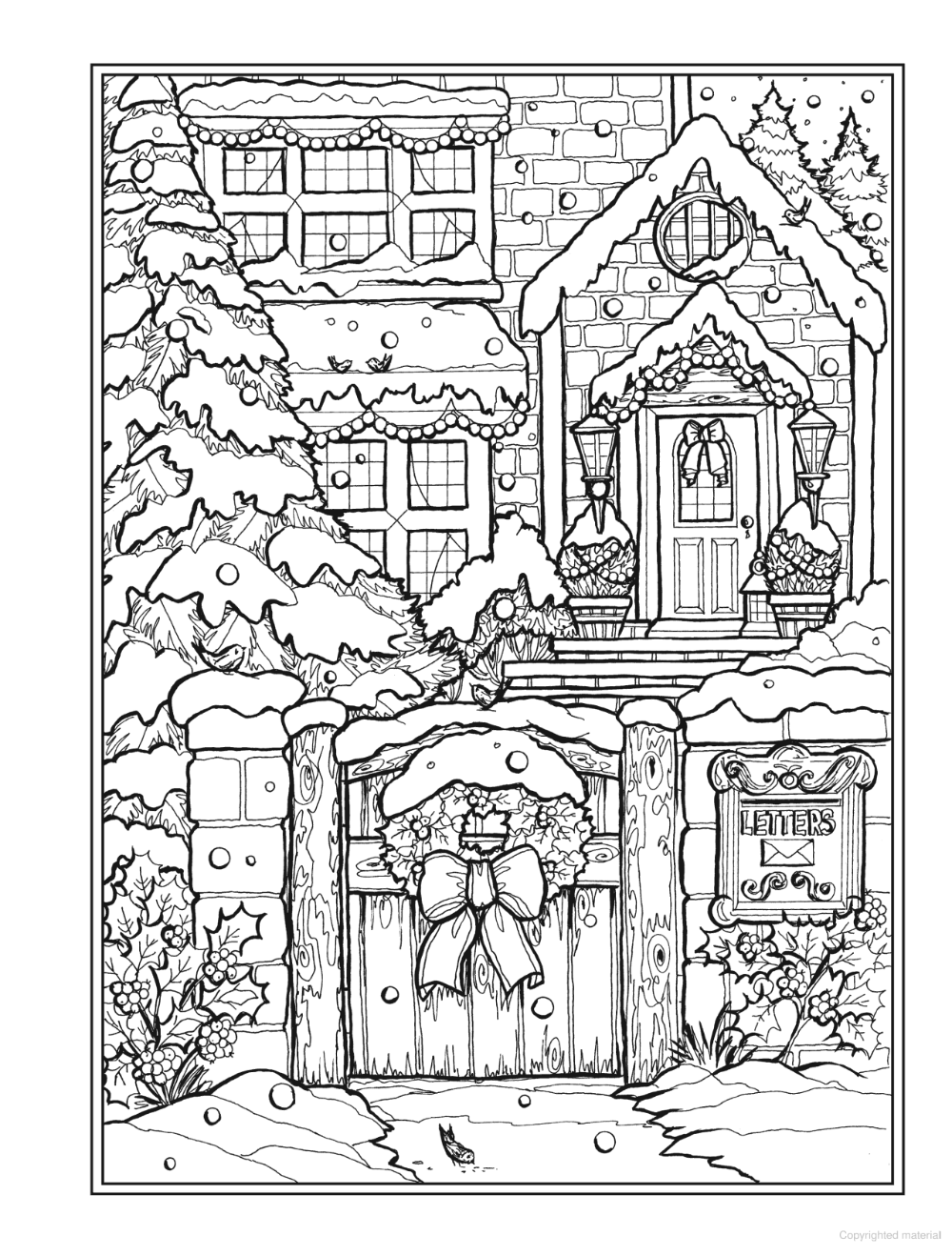Creative Haven Christmas Charm Coloring Book Detailed Coloring Pages Printable Christmas Coloring Pages Christmas Coloring Sheets