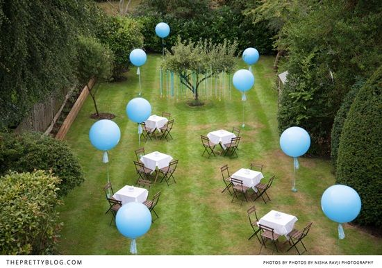 decoraci n bautizo en el jard n decorar con globos