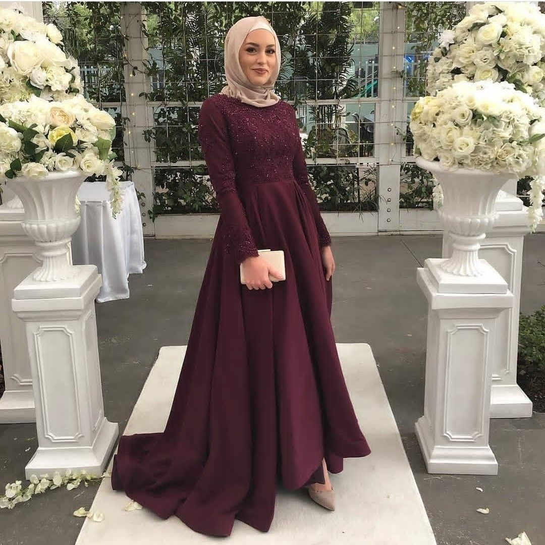 Dress wedding  Hijab prom dress, Soiree dress, Hijab dress party