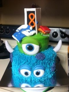 Cool Monsters University Birthday Cake Personalised Birthday Cards Epsylily Jamesorg