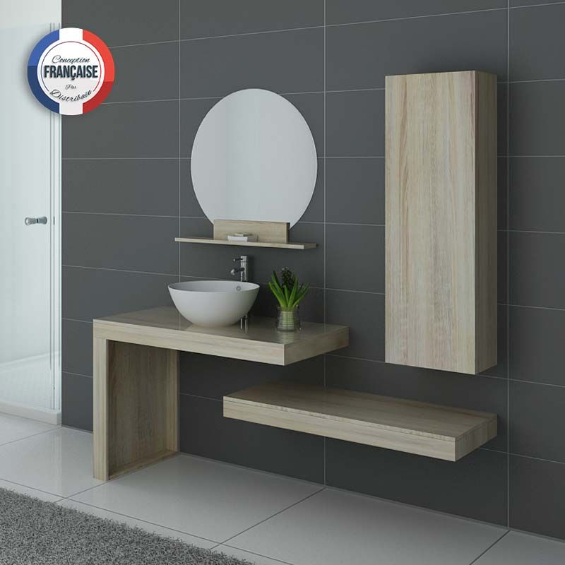 Meubles salle de bain monza scandinave en 2020 ensemble - Meuble bas salle de bain sans vasque ...