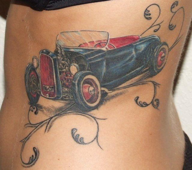 Hervorragend tatouage-voiture-1010 | route 66 | Pinterest | Le tatouage, La  MN95