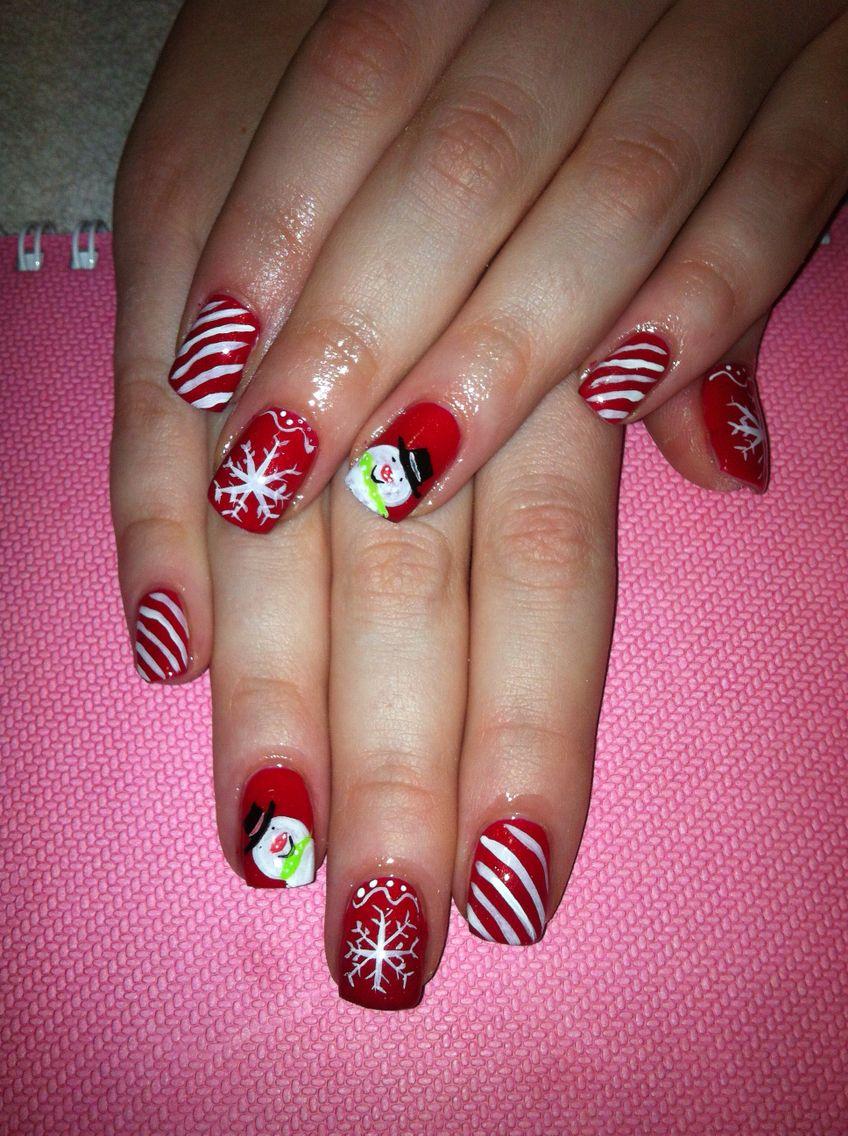 Christmas nails shellac | Nails my work | Pinterest