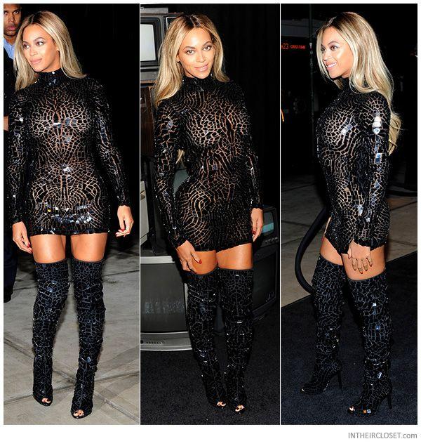 Beyoncé Tom Ford High Thigh Knowles Black Crystal Mosaic Wearing zSUVpGqM