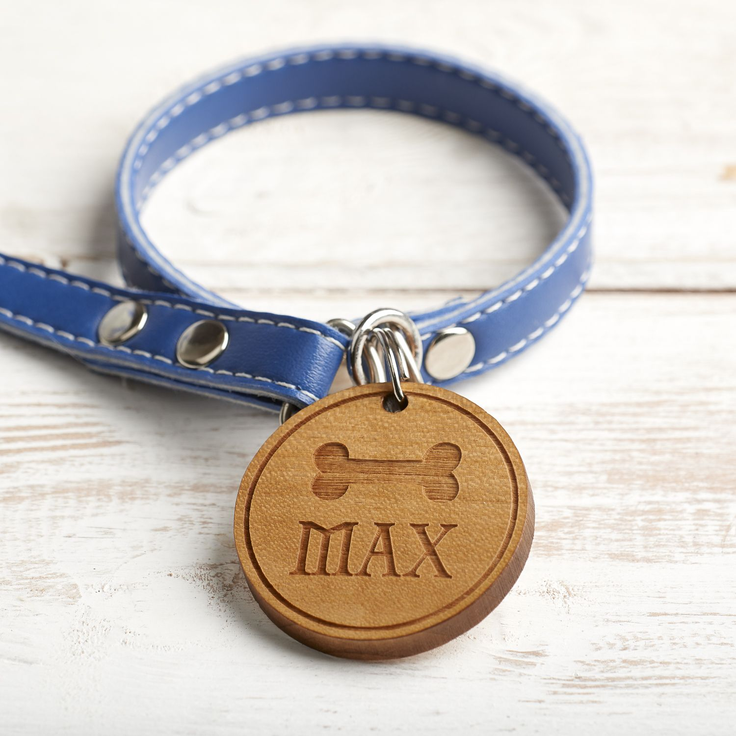 Personalised Wooden Pet, Dog, Cat Identification, ID, Name Tag