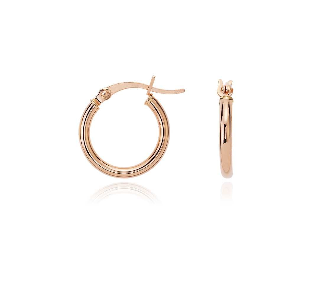 Blue Nile Petite Hoop Earrings in 14k Yellow Gold (5/8) rD7JxfJ