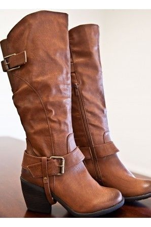 Cute brown riding boots for fall and winter 2013 - 2014 ♥ Get this look at @SPARKTREND for $29, click the image to see! #riding #boots #boot