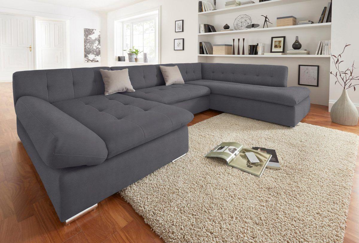 Quelle Sofa trendmanufaktur wohnlandschaft schwarz recamiere links fsc