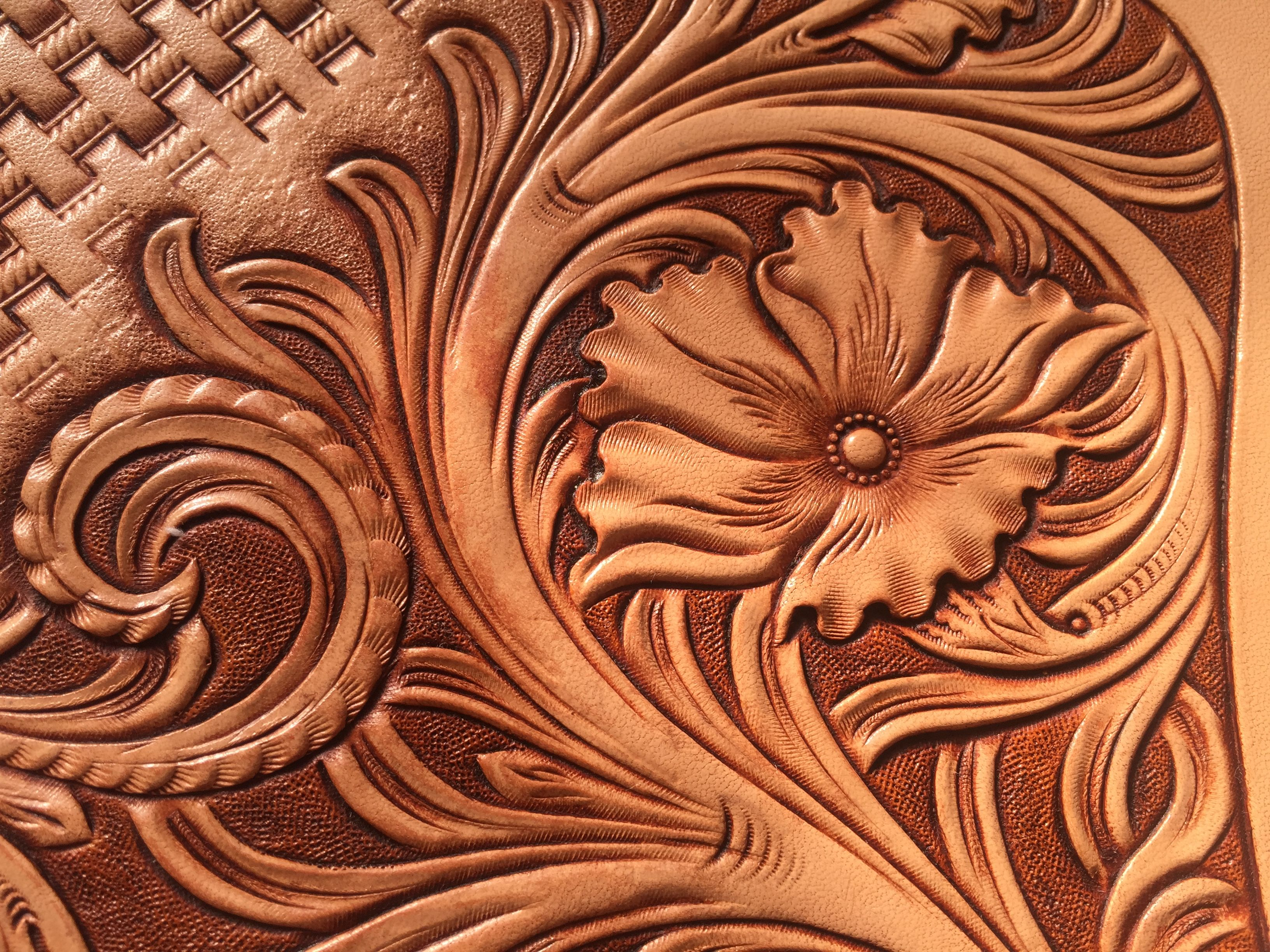 Leather carving my works pinterest