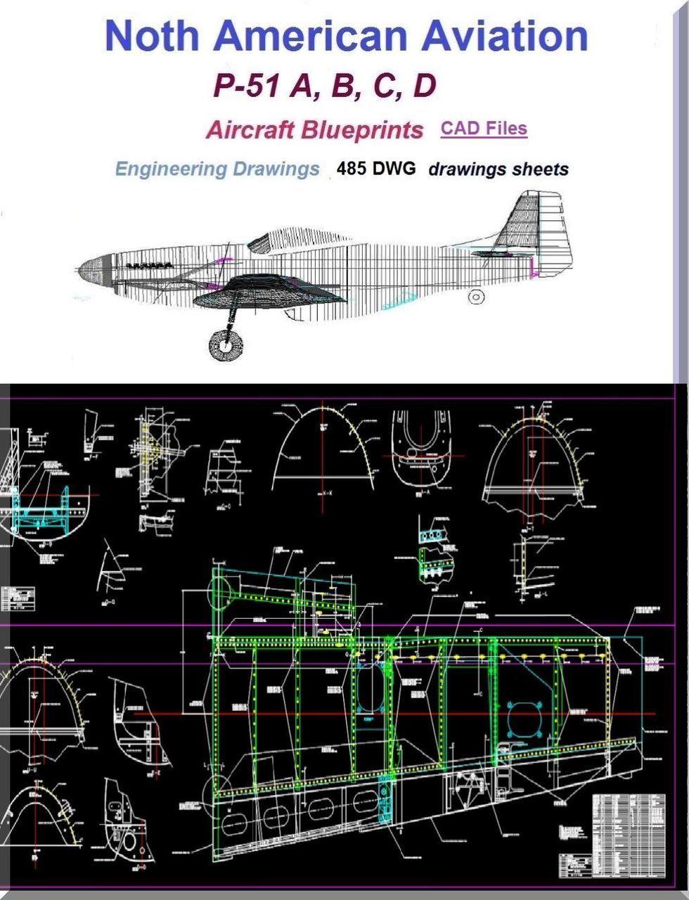 North american aviation p 51 aircraft blueprints engineering north american aviation p 51 aircraft blueprints engineering drawings cad files download aircraft malvernweather Gallery