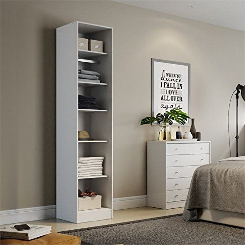 Awesome 6-Shelf Armoires and Wardrobes in White