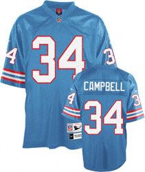 34 Earl Campbell Houston Oilers Light Blue mitchellandness Jersey ... f8e06170a