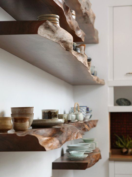 Live-Edge and Raw Wood Decorating Ideas