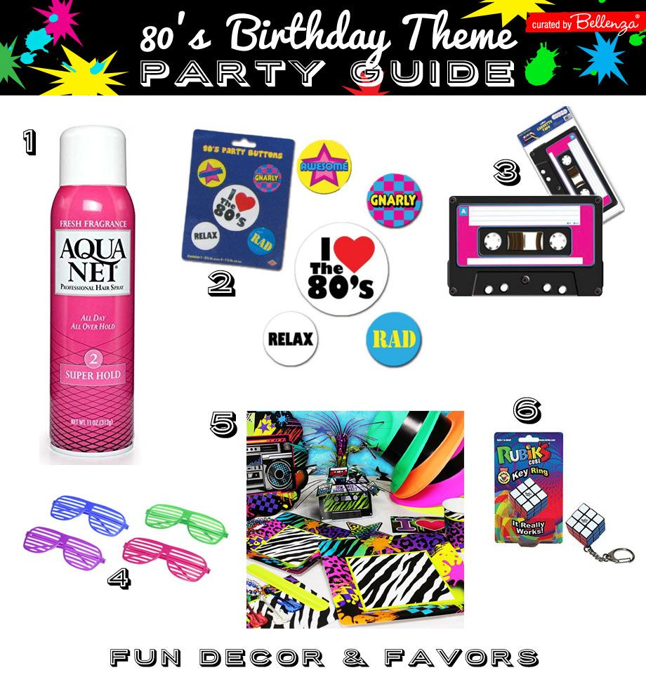 80\'s Dance Party Guide for a 40th Birthday Bash! | GROWN-UPS ...