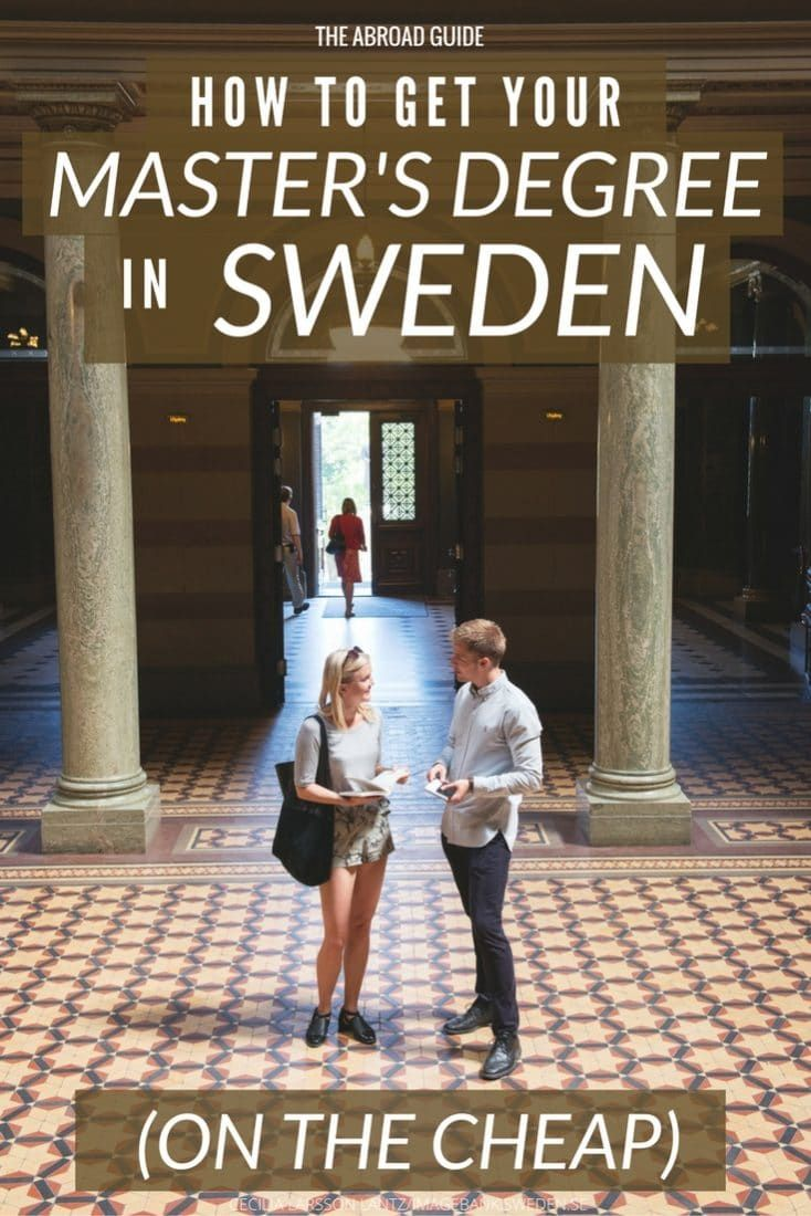 How to Study for Free in Sweden (Get a Free or Cheap Master's Degree) is part of Online college degrees, Mba degree, Masters degree, Harvard law school, College degree, Teach abroad - Want to study in Sweden for free or cheaply  This guide tells you how to apply for an inexpensive or free master's program in Sweden