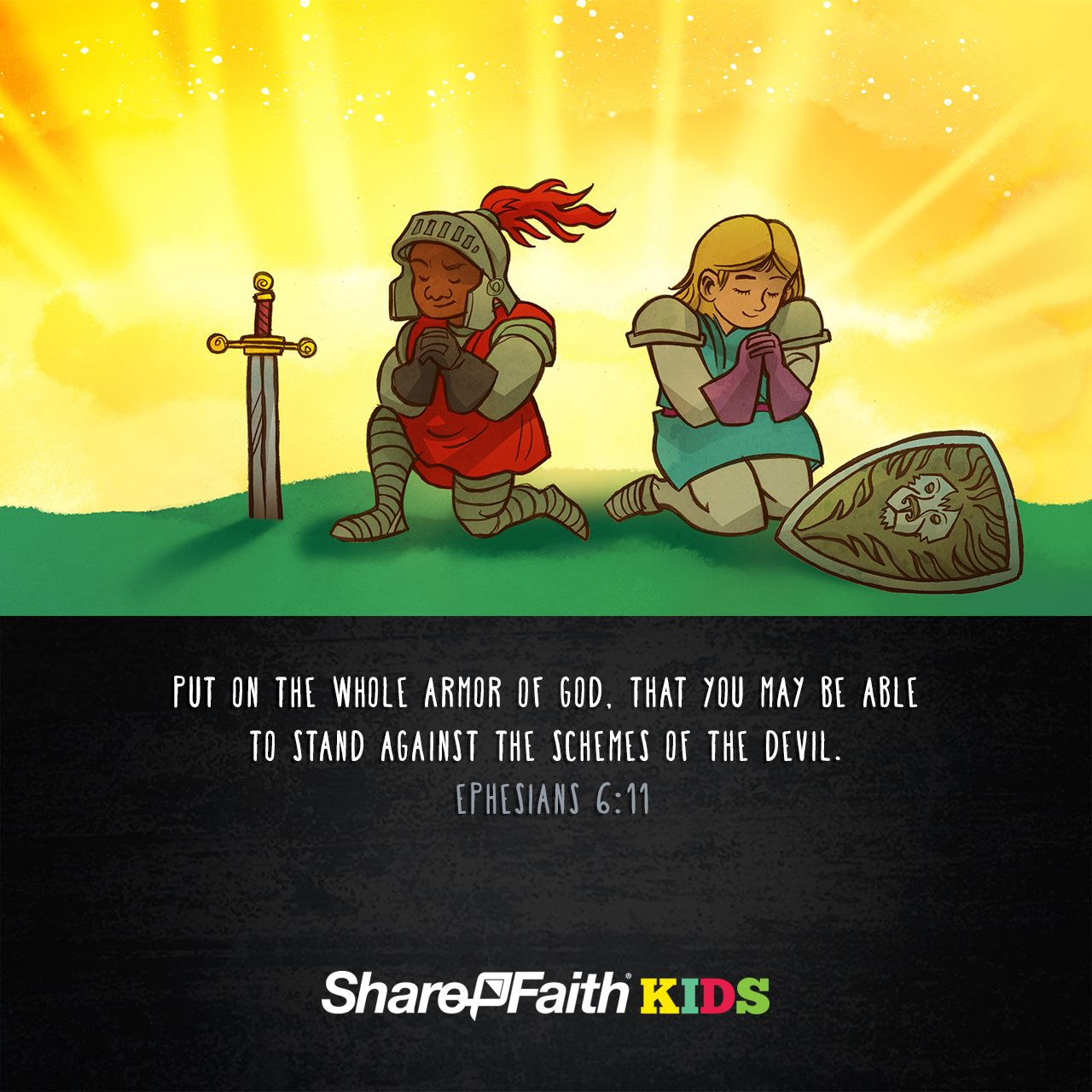 Ephesians 6 The Armor of God Kids Bible Scripture: The ...