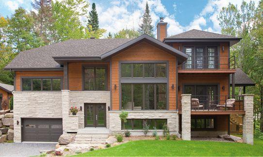 Duo Pierres Et Bois Stone Exterior Houses Modern Style House Plans Cottage Exterior