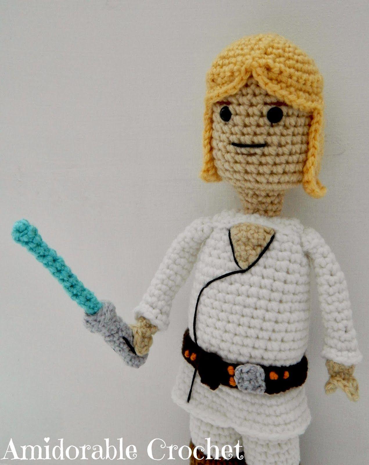A[mi]dorable Crochet: Luke Skywalker Lego Man Pattern | Crochet ...