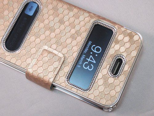 Gold Silver Luxury Luxurious Synthetic Leather Magnetic Flip Case Cover Protector Skin for iPhone 4 4G 4S - Stop worrying about scratching your Apple iPhone 4/4S with this leather case. Leather case features smooth synthetic leather and heavy duty st