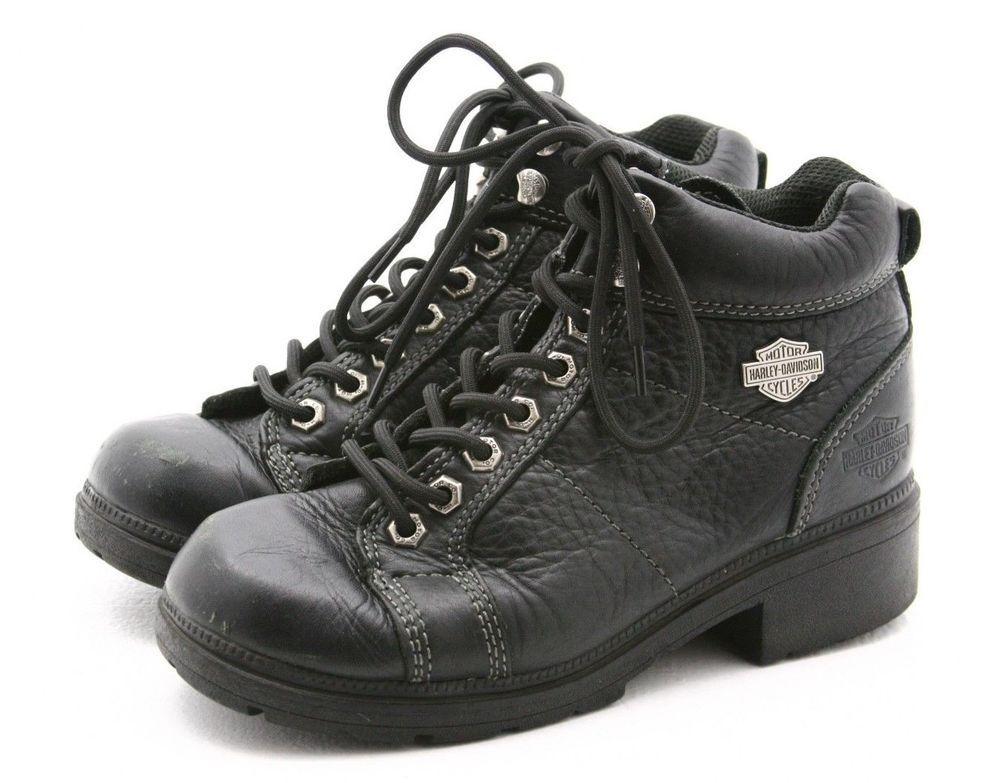 bb52e04c06f1 Harley Davidson Women s Black Boots Stock 81090 Size 7