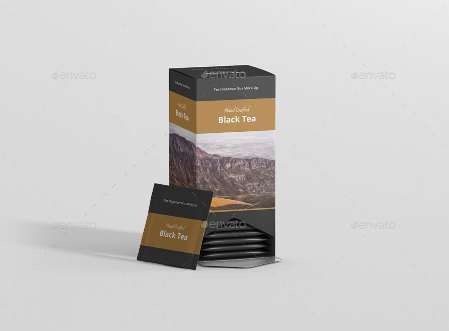 Download Tea Dispenser Box Mockup Ad Box Ad Mockup Full Tea Dispenser Tea Packaging Free Tea Tea Packaging Design