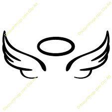 Easy To Draw Angel Wings Halo Ile Ilgili Görsel Sonucu Dövme