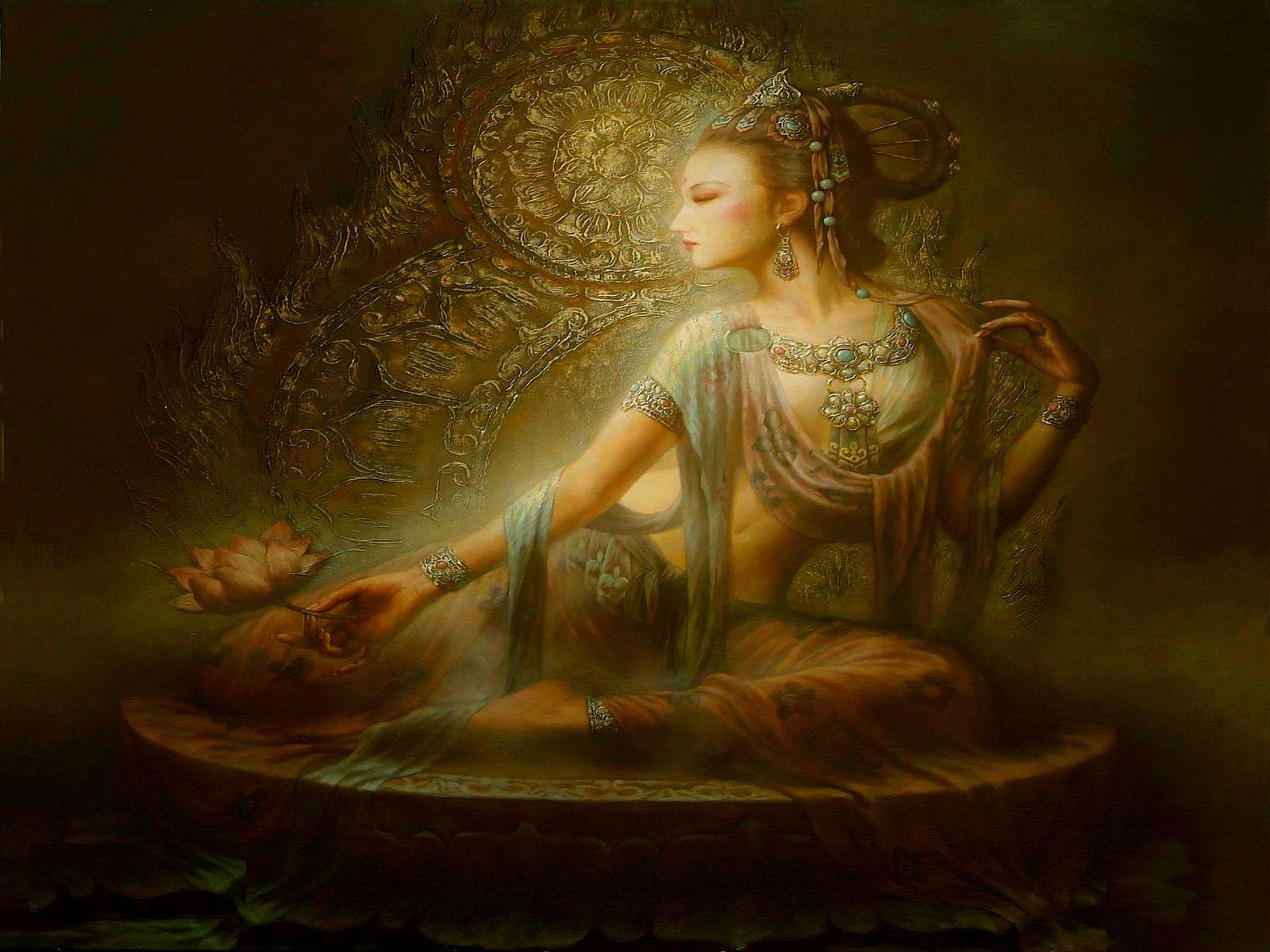 Divine Beauty Divine Beauty Computer Wallpapers Desktop Backgrounds 1600x1200 Goddess Art Kuan Yin Quan Yin