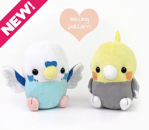 PDF sewing pattern - Baby Bird plush stuffed animal - kawaii ...