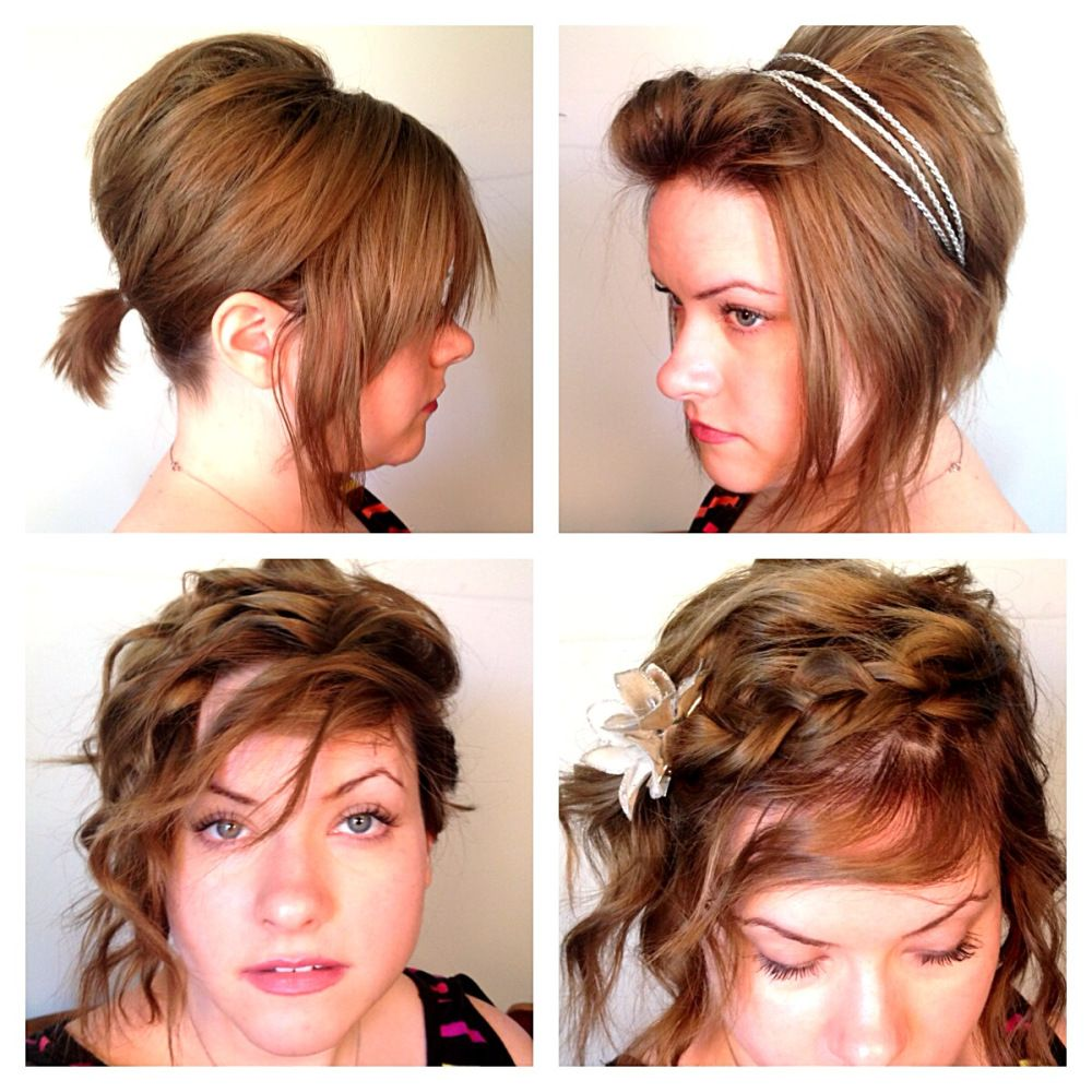 easy schoolwork hairstyles for short hair tutorial this