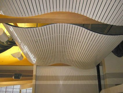 Curved Suspended Ceiling Tile   PLASLINE   Rulon Company   Porch Deck