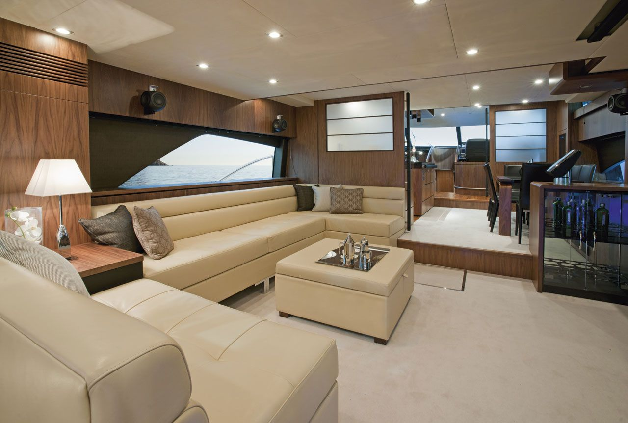 Inside Luxury Yachts Interiors Of Luxury Yachts Fairline S Squadron 78 Custom