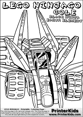 Lego Ninjago Cole In Racer Coloring Page Preview Ninjago Coloring Pages Coloring Pages Lego Ninjago