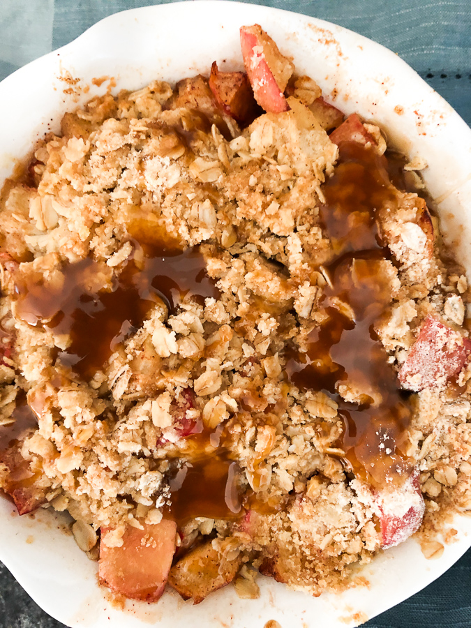 Making apple crisp in your air fryer is easy if you have