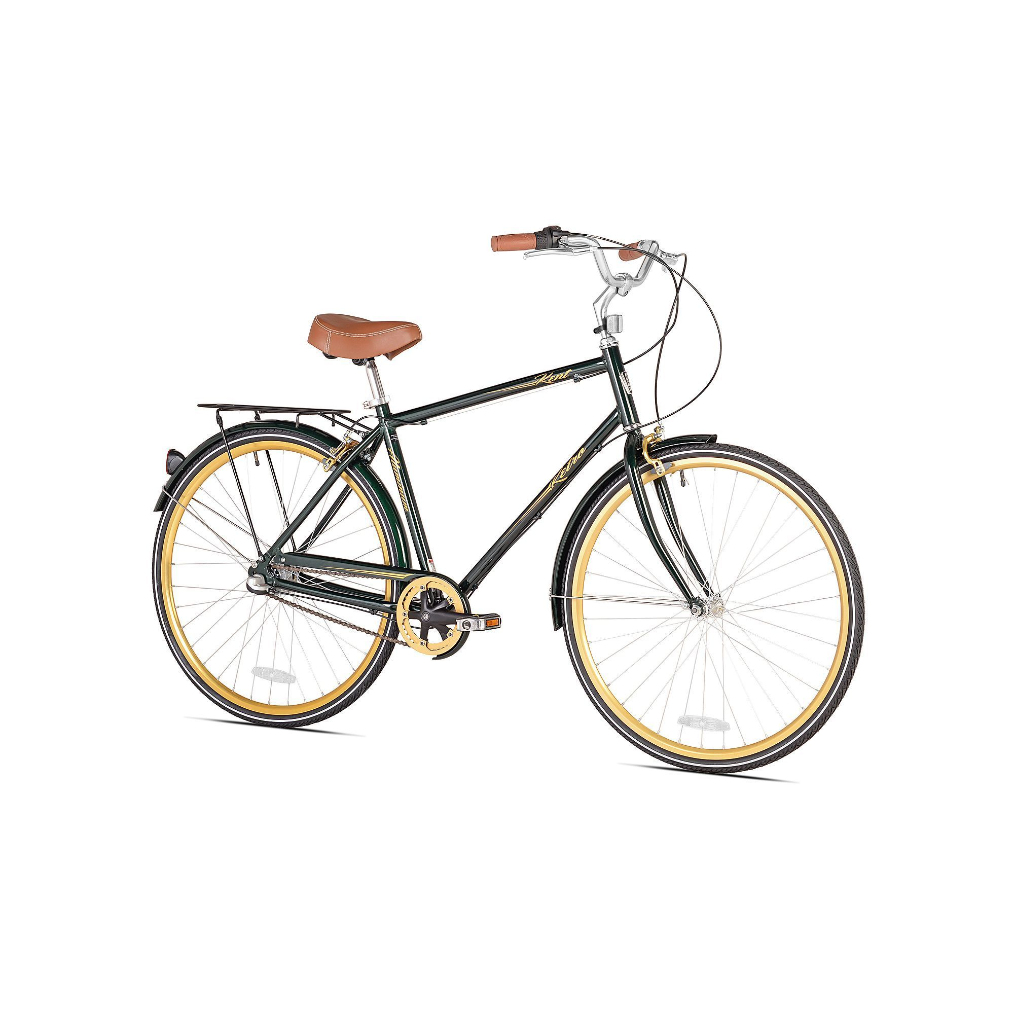 Men\'s Kent 700c Retro Bike, Green