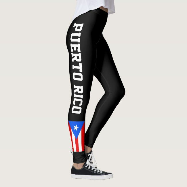 Puerto Rico flag leggings for workout sports & gym #flag #sports #workout #fitness #pride