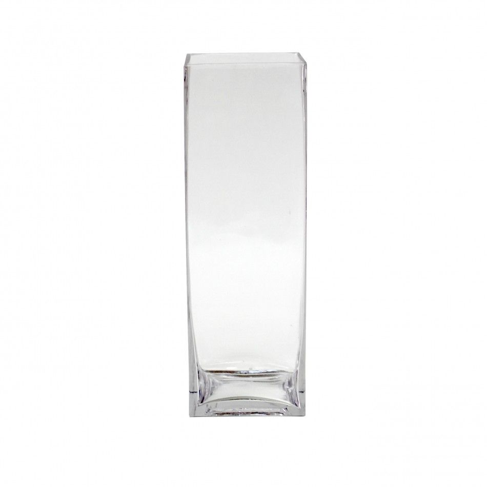 4 x 12 Tall Square Glass Vase [404348] : Wholesale Wedding Supplies ...