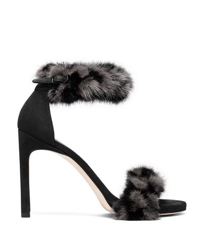 Stuart Weitzman <span class='plpItemName'>BUNNYLOVE SANDAL<br/></span><span class='plpGroupName'> in Genuine Mink Fur</span> Sandals Shoe