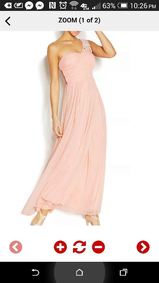 Peach one shoulder prom dress from macys