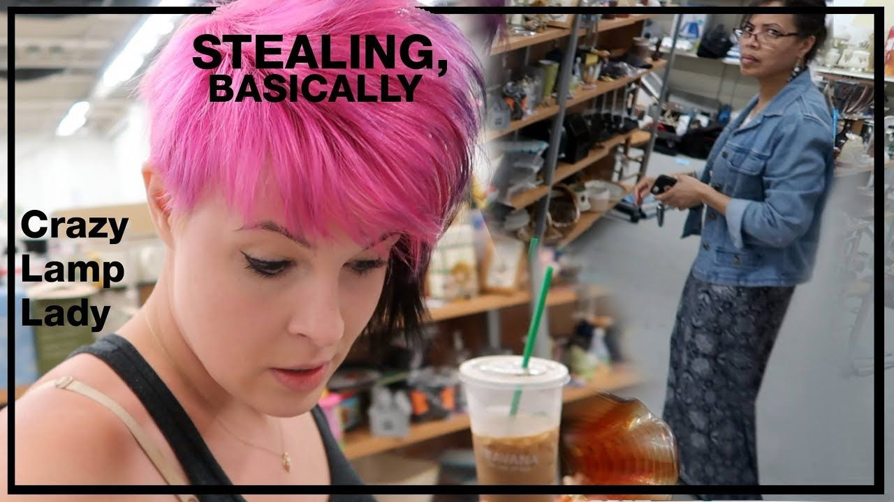 Stealing Stuff Basically Buying Reselling Crazy Lamp Lady Youtube Lady Things To Sell Crazy