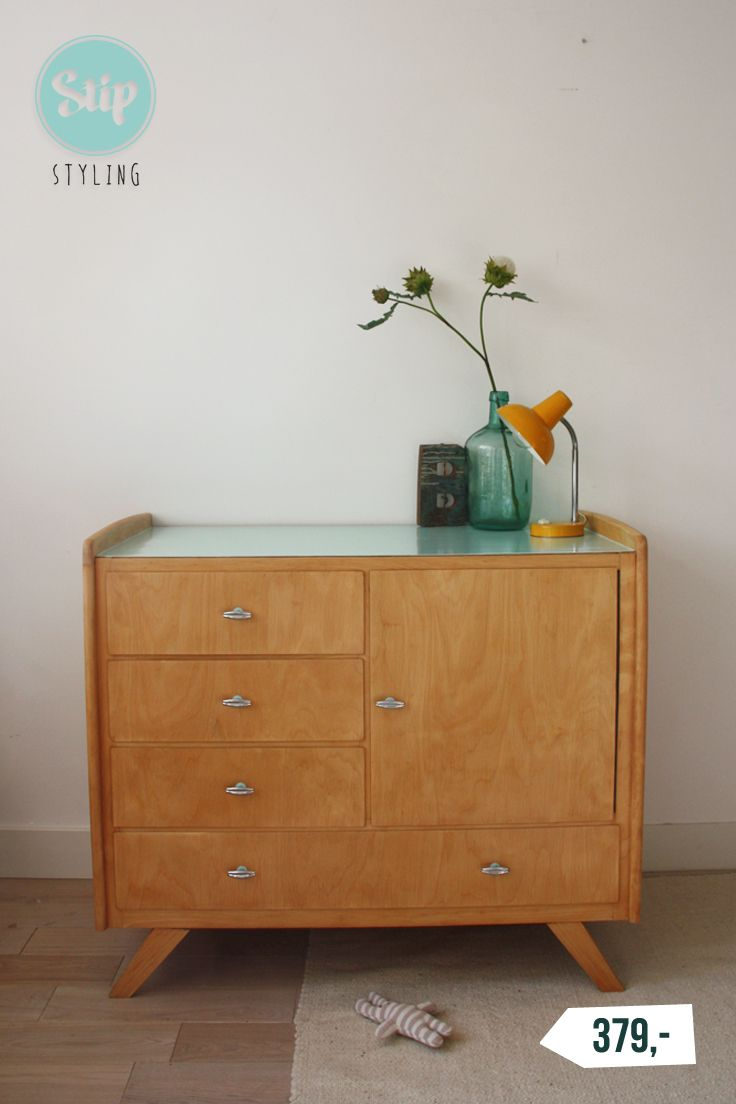 retro-commode-vintage-stipstyling | commode / retro / brocante, Deco ideeën
