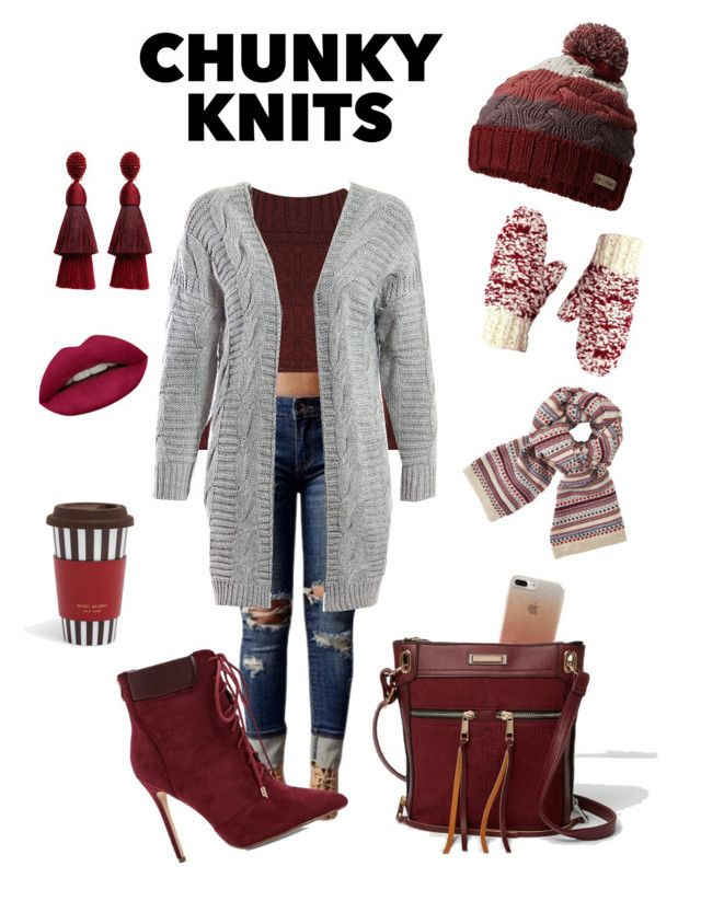 """Chunky Knits"" by marlaj-50 ❤ liked on Polyvore featuring WearAll, WithChic, Columbia, Sans Souci, John Lewis, Huda Beauty, Henri Bendel, Boohoo, Kate Spade and River Island"