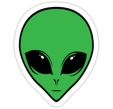 Alien Face Sticker By David Sanders In 2021 Face Stickers Sticker Art Print Stickers